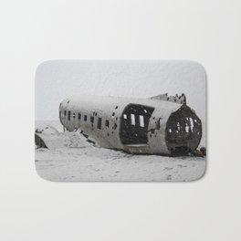 DC Navy Plane Wreck in Iceland Bath Mat