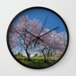 Algarve almond blossom Wall Clock