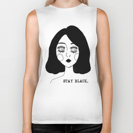 Stay Black Biker Tank