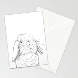 Curious Holland Lop Bunny Stationery Cards