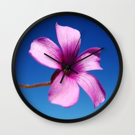 Purple bloom Wall Clock