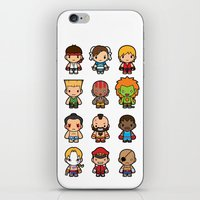 foo fighters iPhone & iPod Skins featuring The Fighters by Papyroo