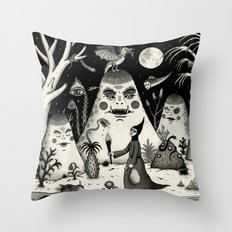 Outcry of the Island Throw Pillow