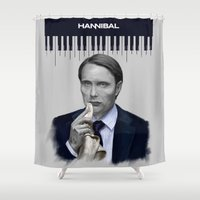 hannibal Shower Curtains featuring Hannibal by firatbilal