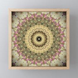 Vintage Gold Pink Mandala Design Framed Mini Art Print