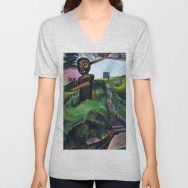 Emily Carr - The Crazy Stair - The Crooked Staircase - Canada, Canadian Oil Painting Unisex V-Neck