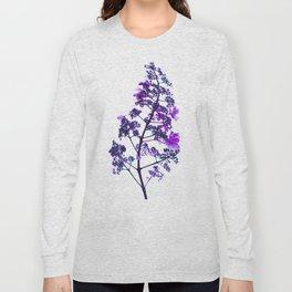 Flowery Stem-purple Long Sleeve T-shirt