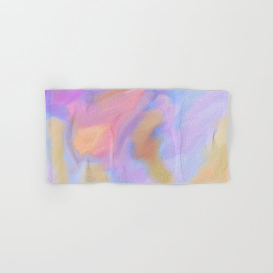 Purple Watercolor Storm Hand & Bath Towel