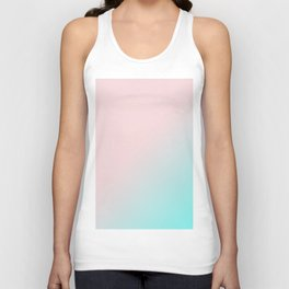 Simply Pink & Teal Color Gradient - Mix And Match With Simplicity of Life Unisex Tank Top