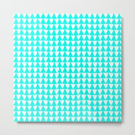 Triangle Arrow Pattern: Turquoise Metal Print
