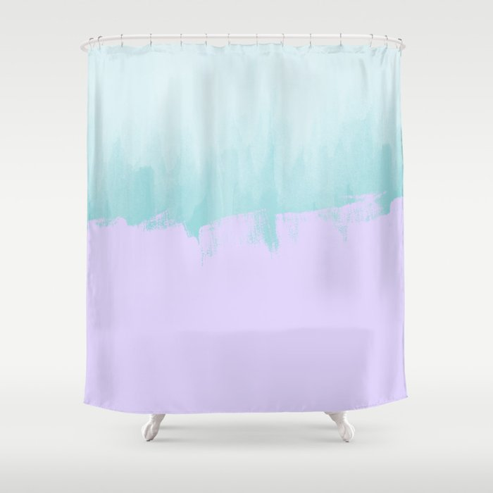 Purple Tiffany Blue Watercolor Shower Curtain