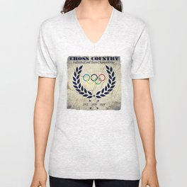 Cross Country - Olympic Vintage Unisex V-Neck