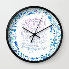 Christ lives in Me - Galatians 2:20 Wall Clock