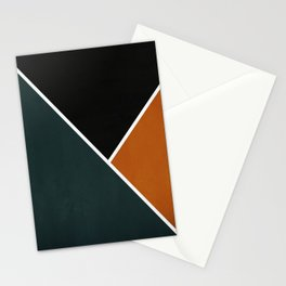 Noir Series - Forest & Orange Stationery Cards