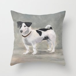 Mikko, Jack Russell Terrier Throw Pillow