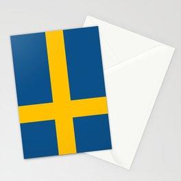 flag of sweden Stationery Cards