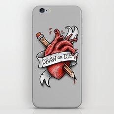 Draw or Die iPhone & iPod Skin