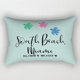 South Beach Coordinates Rectangular Pillow