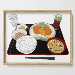 Japanese Tonkatsu Bento Serving Tray