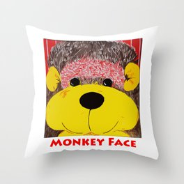 Monkey Face Throw Pillow