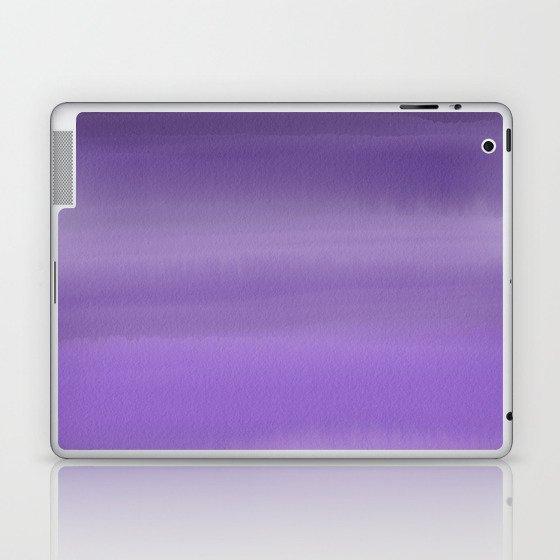 Modern painted purple lavender ombre watercolor Laptop & iPad Skin