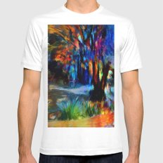 Le bois White Mens Fitted Tee MEDIUM