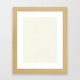 Ivory Light Pixel Dust Framed Art Print