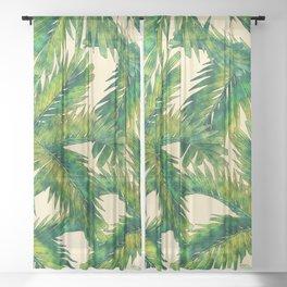 Palms #palm #palms #flower Sheer Curtain