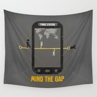 politics Wall Tapestries featuring Mind the Media by Schwebewesen • Romina Lutz