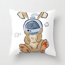 Spacebunny Throw Pillow
