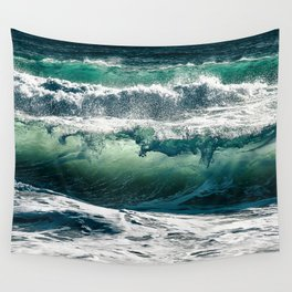 Wild waves Wall Tapestry