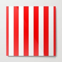 Australian Flag Red and White Wide Vertical Beach Stripe Metal Print