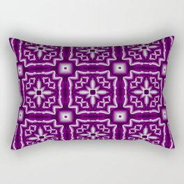 Asexual Pride Starbursts and Squares Pattern Rectangular Pillow