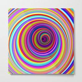 Hypnotic Psychedelic Vertigo Hole Metal Print