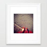 feet Framed Art Prints featuring Feet by Bloody-Gami