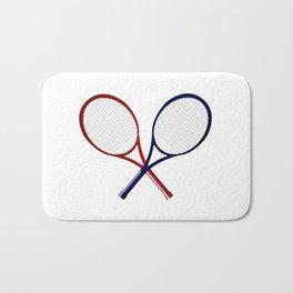 Crossed Rackets Bath Mat