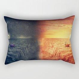 Two Worlds Collide Rectangular Pillow