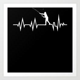 Heartbeat Fishing Men Art Print