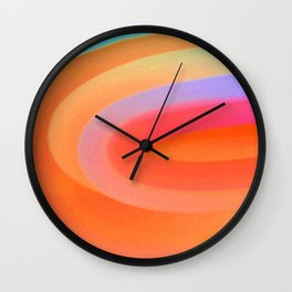 Sorbet Color Swirl Wall Clock