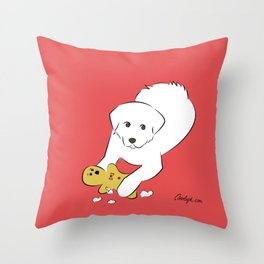 Gingerbread Gets It - Great Pyrenees Humor Throw Pillow