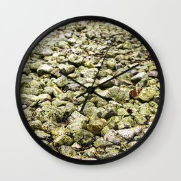 The road to succes is a rocky road Wall Clock