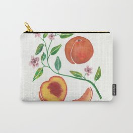 Peaches & Blooms Carry-All Pouch