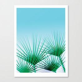 Airhead - memphis throwback retro vintage ombre blue palm springs socal california dreamer pop art Canvas Print
