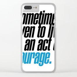 seneca quote, typography art Clear iPhone Case