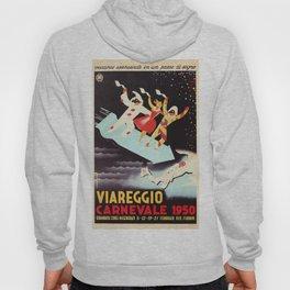 Vintage Viareggio carnival Italian travel ad  Hoody