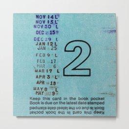 Ilium Public Library Card No. 2 Metal Print