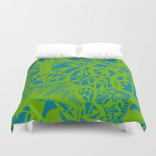 INK#7 Dream in Green Duvet Cover