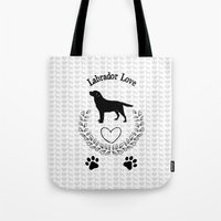 labrador Tote Bags featuring Labrador Love by naturessol