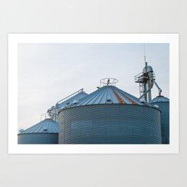 Grain Bins on the Farm Art Print