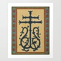 Leaf-Bearing Cross Art Print